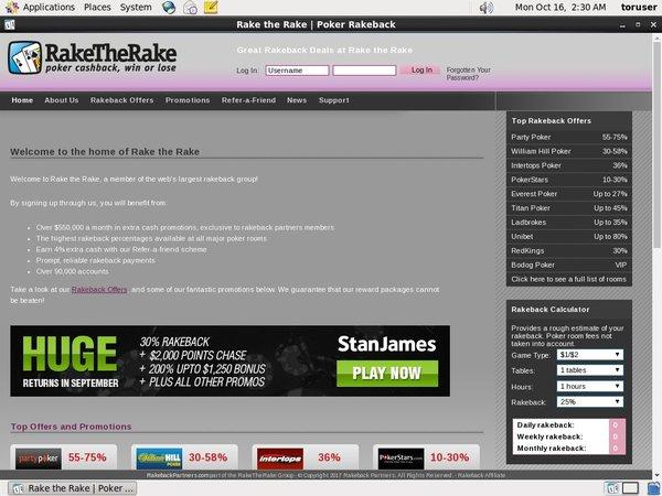 Rake The Rake Offer Paypal?