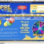Welcome Empire Bingo Bonus
