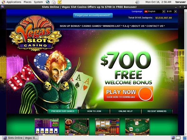 Vegas Slot フリースピン