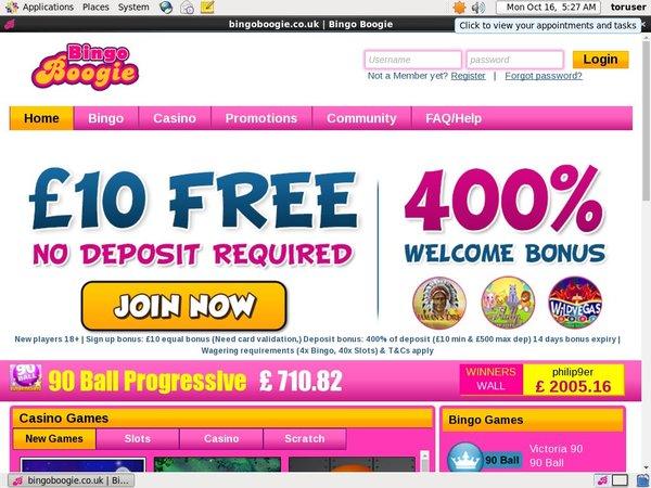 Bingo Boogie Join Bonus