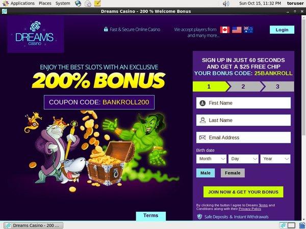 Live Casino Uk Dreams Casino