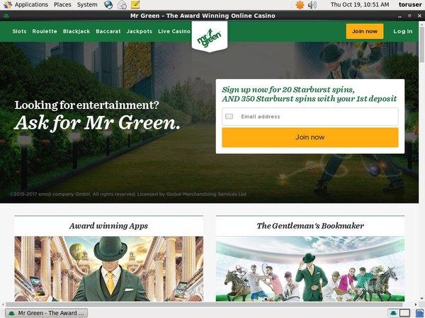 Mr Green Paypal Bingo
