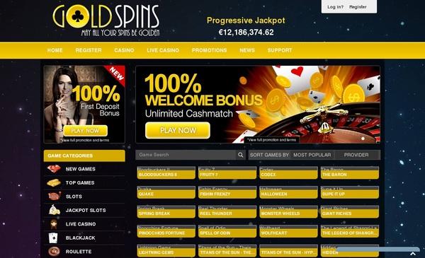 Max Deposit Gold Spins