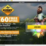 Gday Casino Mobile App