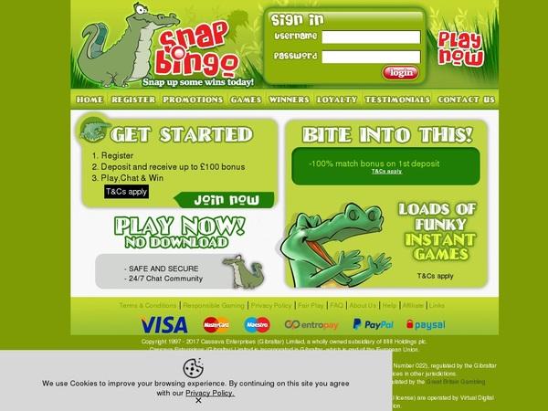 Snap Bingo Deposit Options