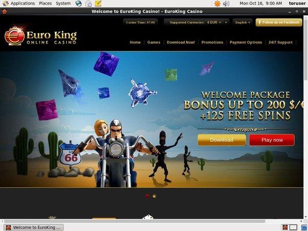 Signup Bonus Euro King Casino