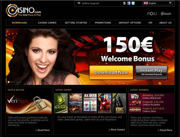 Casino.com 免费旋转