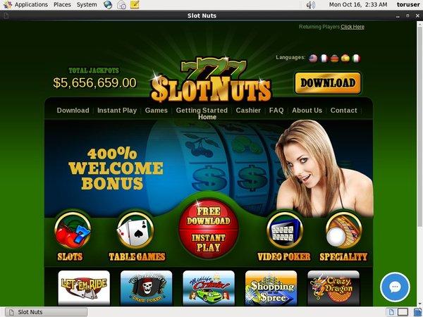 Slotnuts Pay Pal Deposit
