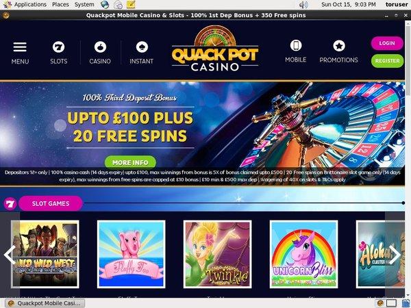 Quackpot Casino Bonus List