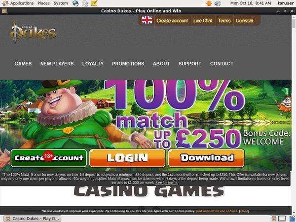 Casino Dukes High Roller Bonus