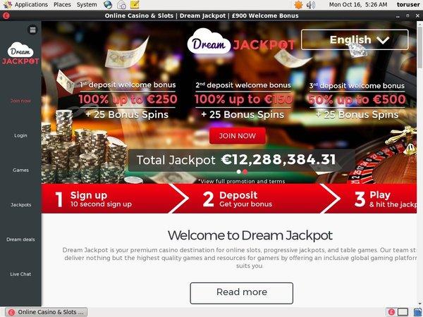 Dream Jackpot E Transfer